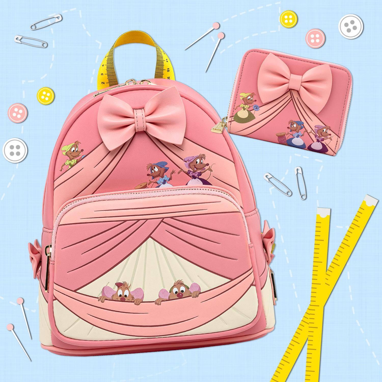 Loungefly X Disney: Vestido Rosa de cenicienta Mini Mochila